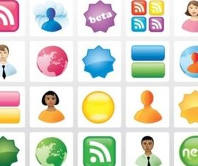 Icon Buttons vectors graphics