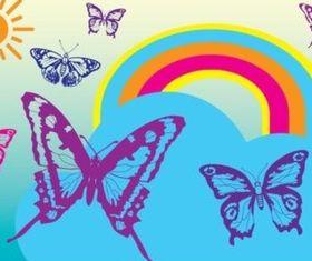 Free Butterflies vector graphics