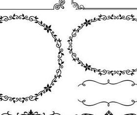 Floral design Border with frames vector
