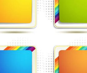Abstract Colorful Frames vector