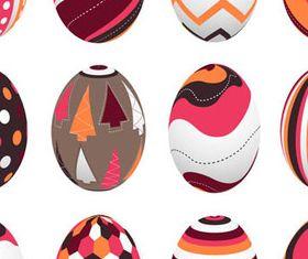 Vivid Easter Eggs 1 vector