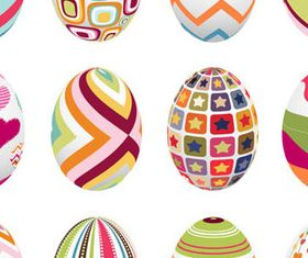 Vivid Easter Eggs 2 vector