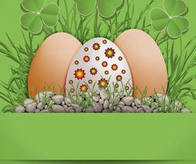 Easter Eggs with Backgrounds 1 vector