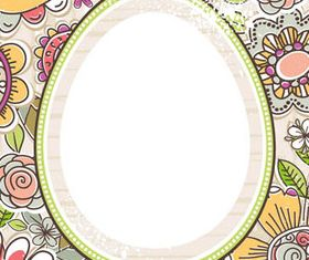 Easter Eggs with Backgrounds 3 vector