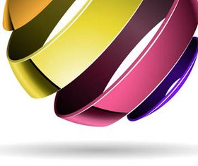 Colorful 3D Spheres Logos 2 vector