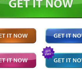 Stylish Web Buttons design 1 vector
