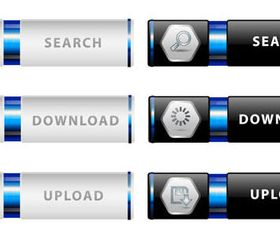 Stylish Web Buttons design 2 vector