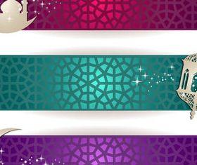 Islamic style banner vector graphics