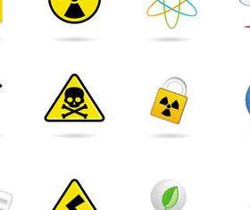 Different Hazard symbols and Icons 1 vector