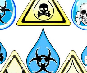 Different Hazard symbols and Icons 2 vector