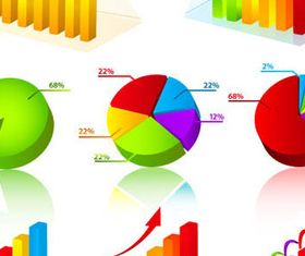Colorful Business Charts set vector