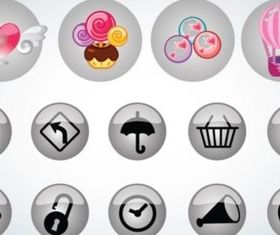 Buttons Pack vector graphics