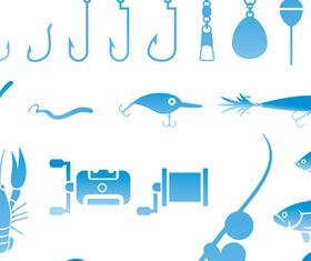 Fishing tool Icons 1 vector