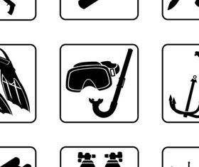 Fishing tool Icons 2 vectors