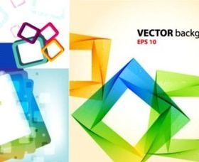 Personality colorful frames background vector