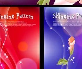 Bright fantasy flower background design vector