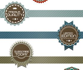 Vintage High Quality Labels 1 creative vector