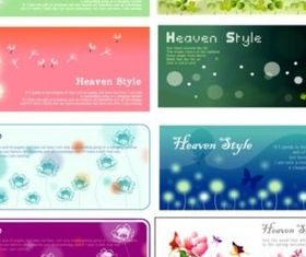 Bright plants banner background vector graphic