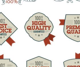 Vintage High Quality Labels 2 vector