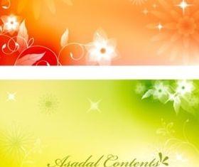 Elegant fantasy flower background vector
