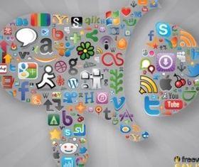 Social Communication vector