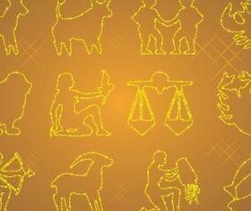 Zodiac Icons vector