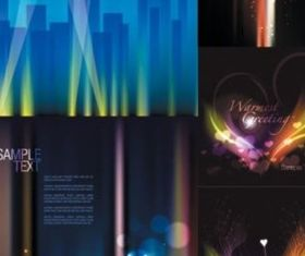 Different Bright Shiny fantasy background vector