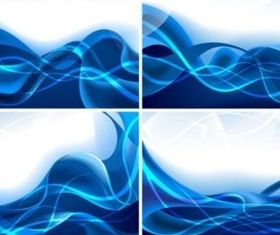 Dreams dynamic blue lines background vector