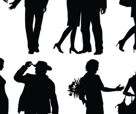 People silhouette 1 vector