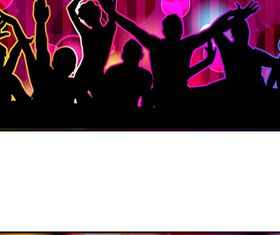 Music Party Backgrounds 1 vector
