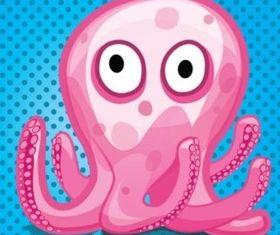 Octopus Cartoon Illustration vector