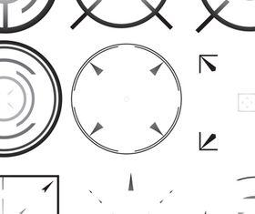 Front sight design 1 vector set