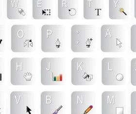 Keyboard Shortcuts vectors graphics