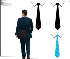 men and tie vector