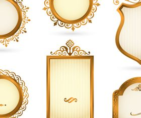 luxurious Gold Royal Frames 1 vector