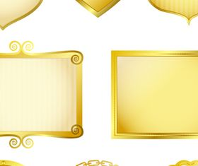 luxurious Gold Royal Frames 2 vector