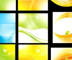 Fresh colorful fantasy card background vectors material