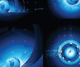 Blue planet design elements background vector