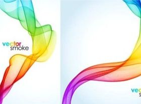 Colorful smoke in background vectors material
