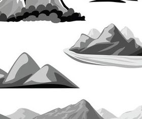 Hand drawn Mountain Landscapes 1 vector design