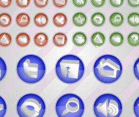 Web Vectors Button Pack vector