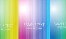 Refreshing colorful striped background set vector