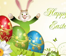 Happy Easter Backgrounds 1 vector