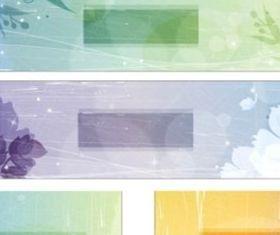 Retro style fantasy flowers background vector