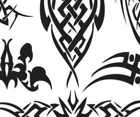 Tribal Tattoo design elements 1 vector