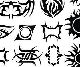Tribal Tattoo design elements 2 vector