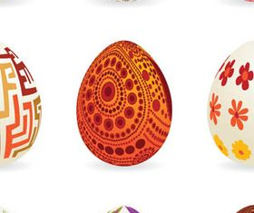 Floral Easter Eggs 1 vector
