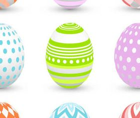 Floral Easter Eggs 2 vector