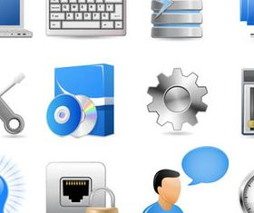 Vivid Computer Icons 2 vector