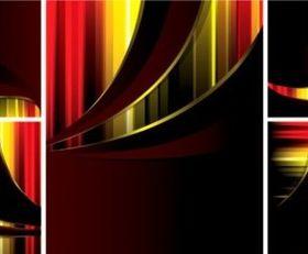 Fashion colorful stripe card background vectors